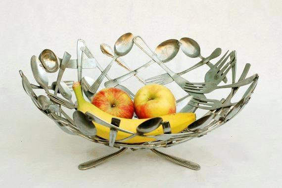fruitschaal van bestek
