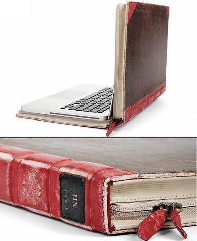 laptoptas van oud boek